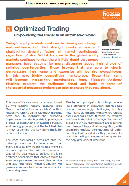 Optimized Trading - Empowering the trader in an automated world