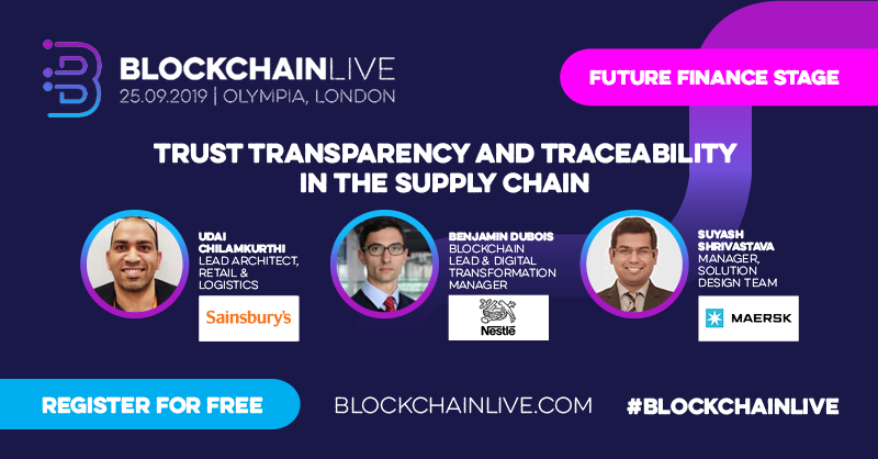 Blockchain Live 2019: Register for Your Free Pass Today