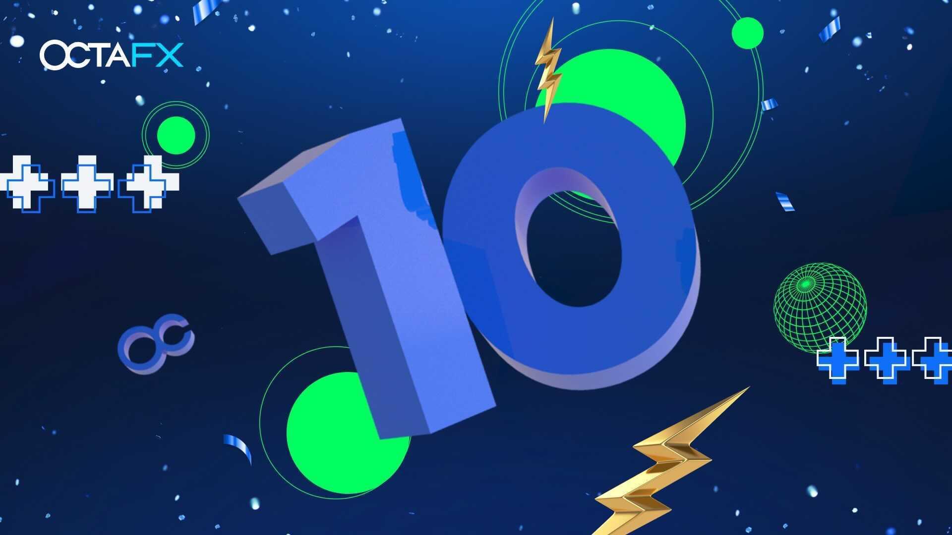OctaFX Celebrates Ten Years in Business