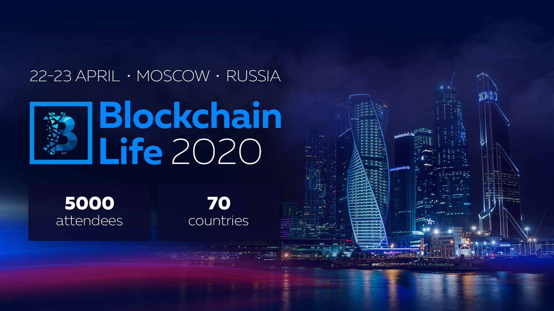 5th International Forum Blockchain Life 2020 Takes Place on April 22-23 in Moscow