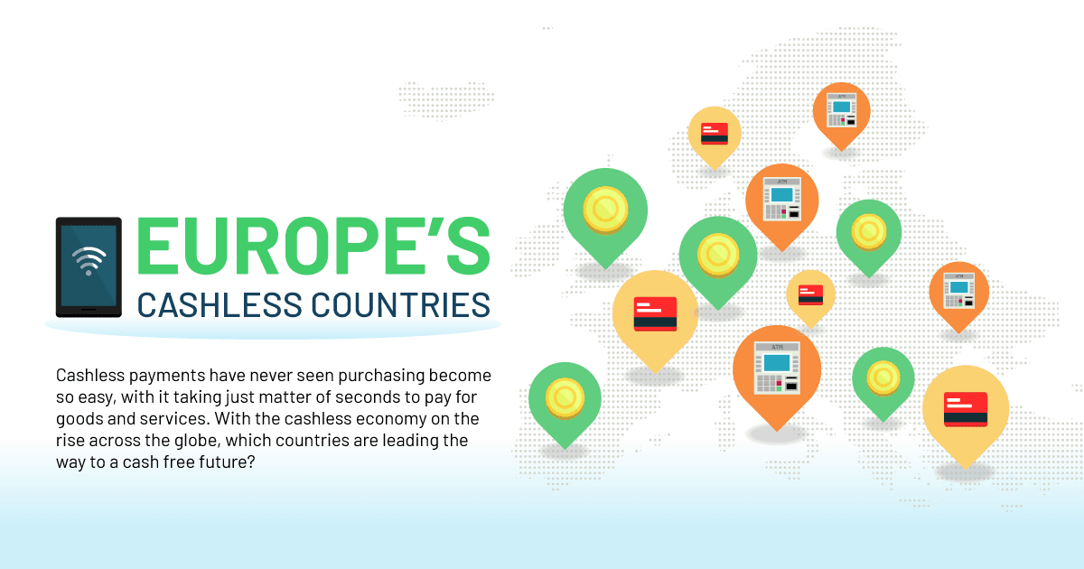 Europe's Top 10 Cashless Countries: study by Merchant Machine