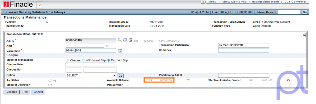 Finacle Core Banking