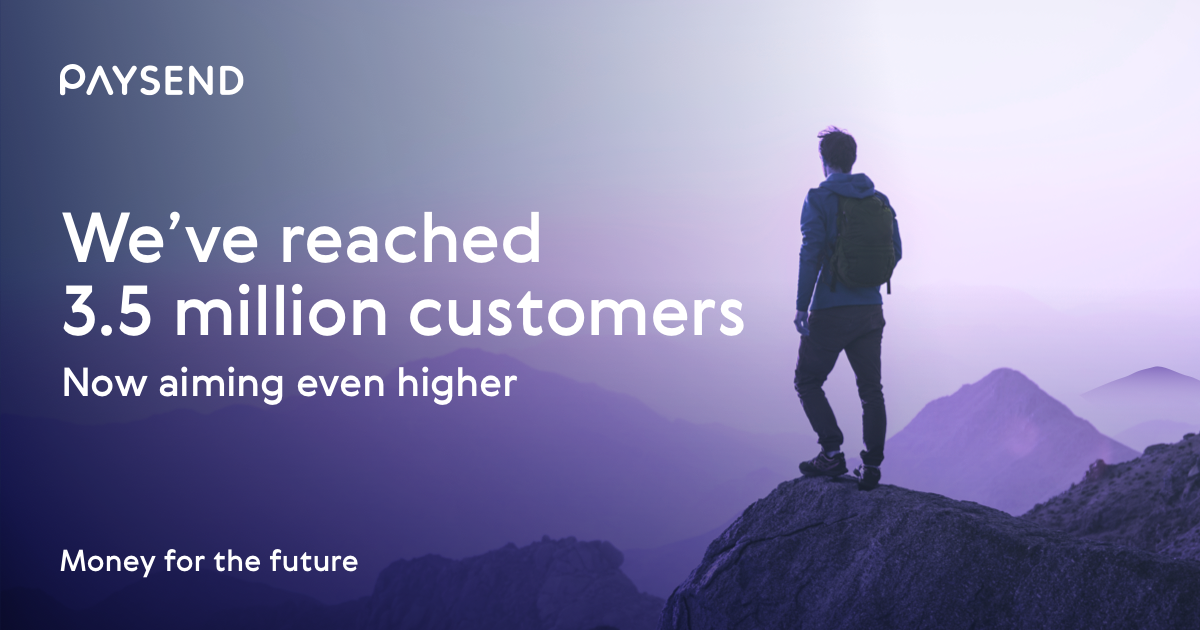 Paysend Hits New Heights with 3.5 Million Registered Customers