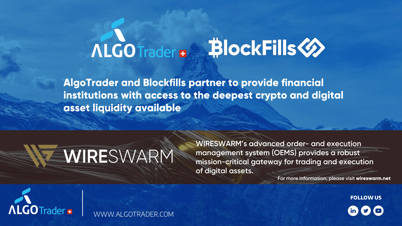 AlgoTrader and Blockfills Partner to Deepen Crypto and Digital Asset Liquidity