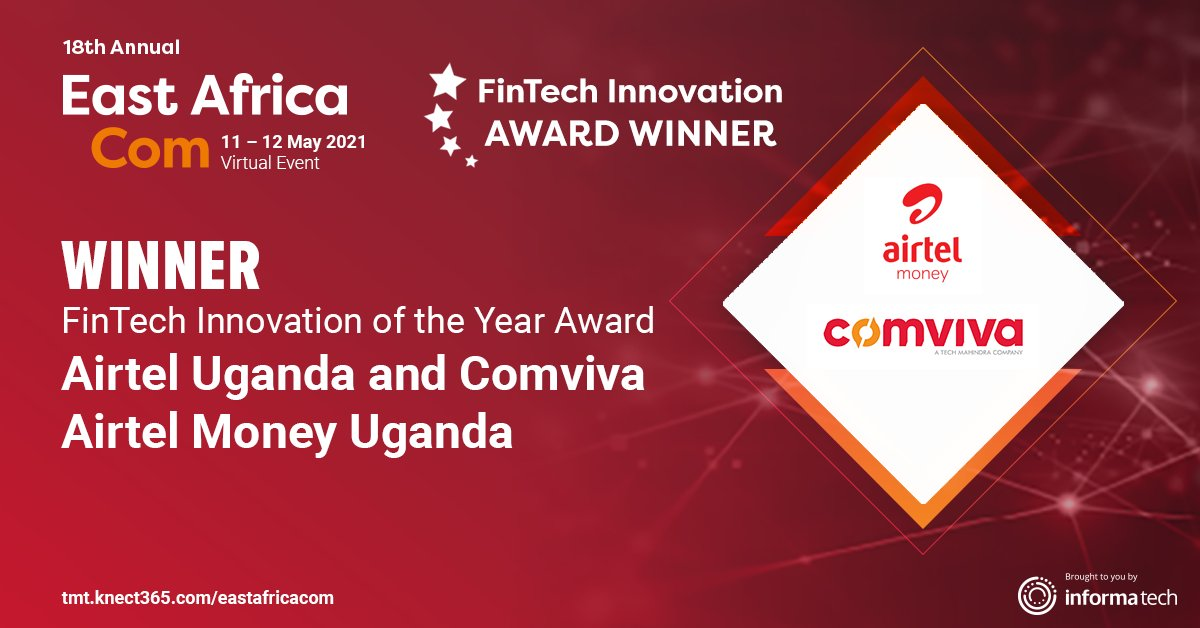 Airtel Uganda, Comviva Scoop East Africa Innovation Award for Airtel Money Service