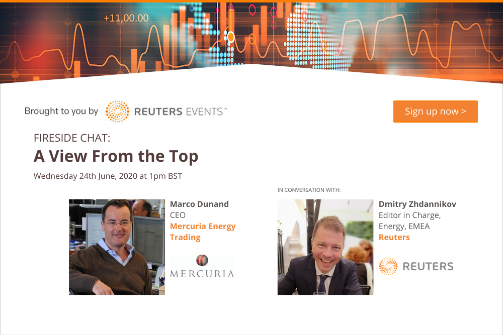 Reuters Events Host Interview with Mercuria's CEO on the State of Commodity Trading