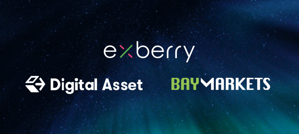 Exberry and Digital Asset Team Up with Baymarkets to Add Clearing to Their End-to-End Digital Asset Exchange Platform
