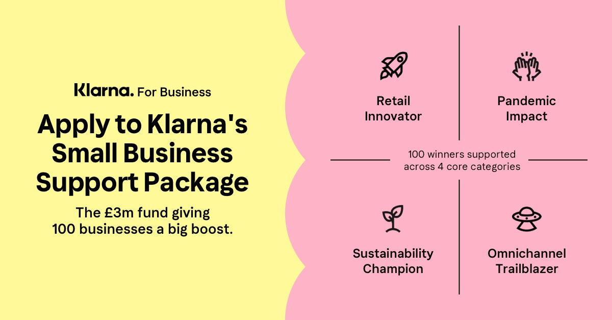 Klarna Launches £3M Support Package and Accelerator Program to Support SME Recovery