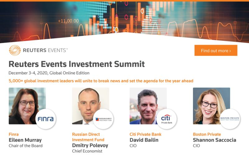 Reuters Events Launch Global Investment Summit Online Edition Uniting Institutional Investors, Asset Owners & Financial Institution
