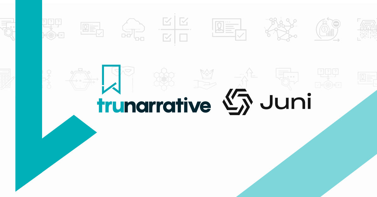 Swedish Banking Platform Juni, Chooses RegTech Platform TruNarrative to Provide Onboarding and Compliance Technology