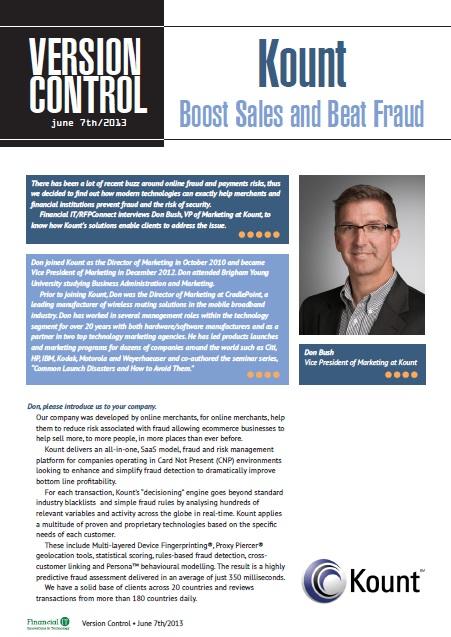 Kount - Boosts Sales and Beats Fraud