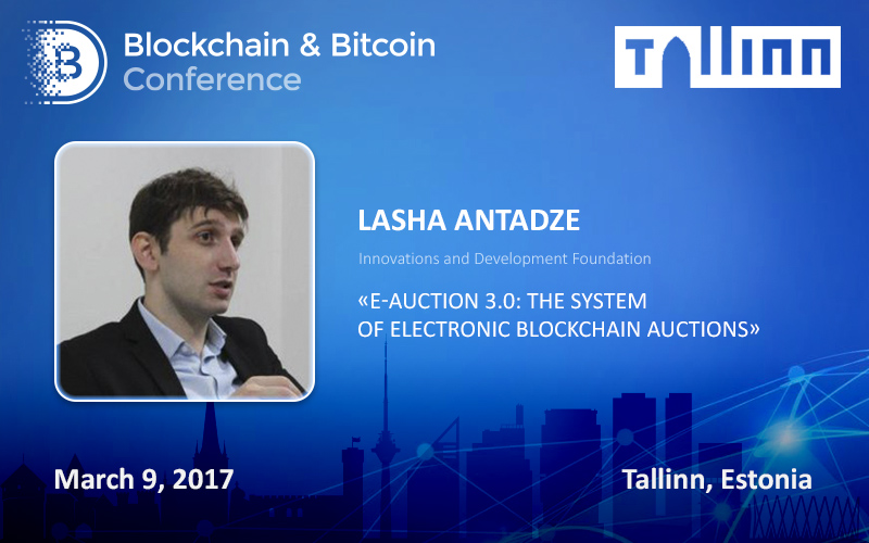 Ukrainian IT specialists Present E-Auction 3.0 at Blockchain & Bitcoin Conference in Tallinn