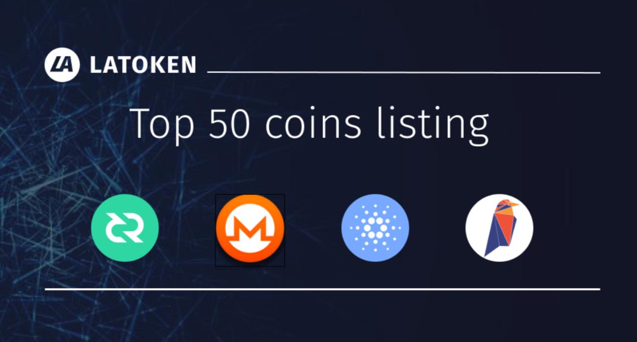 Latoken Lists TOP50 by CMC