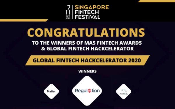 RegulAItion Wins MAS 2020 Global Fintech Accelerator