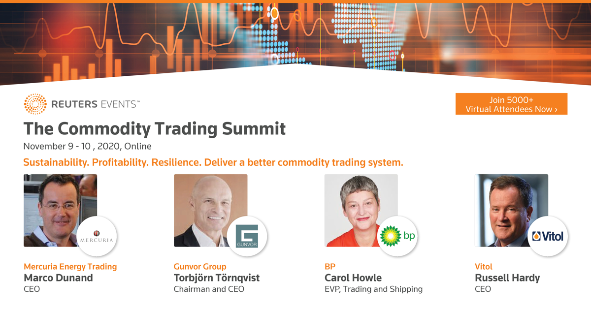 Gunvor, Vitol and Mercuria CEOs confirmed at Reuters Events Flagship Commodity Trading Summit