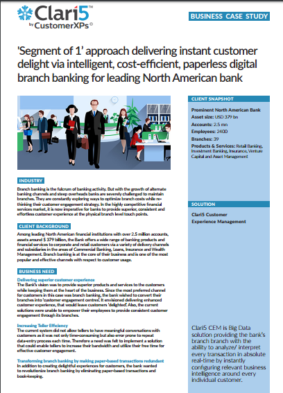 Clari5 Delivering Instant Customer Delight with Intelligent, Real-Time Insights