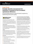 Intraday Liquidity Management for Regulatory Compliance and Increased Operational efficiency