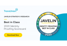 TransUnion Named 'Best in Class' Identity Proofing Scorecard, Enterprise Solutions