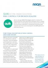 QUIKest pre-trade solution - risk control for broker-dealers