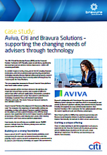 Aviva, Citi and Bravura Solutions - Supporting the Changing Needs of Advisers Through Technology