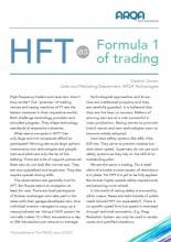 HFT as Formula 1 of trading