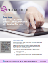Behaviorial Biometrics for Authentication for Financial Security