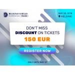 Pay less and find out more: buy tickets to Blockchain & Bitcoin Conference Finland for a favorable price