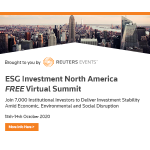 ESG Investment North America Virtual Summit – by Reuters Events Markets