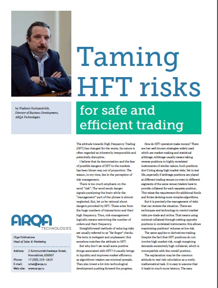 Taming HFT Risks for safe and efficient trading