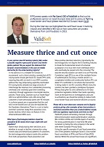 Measure thrice and cut once