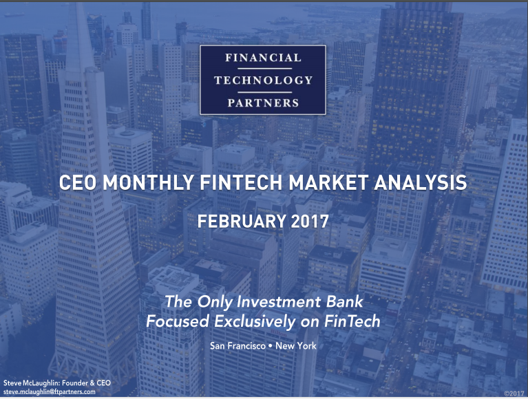 CEO Monthly FinTech Market Analysis