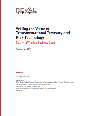Selling the Value of Transformational Treasury and Risk Technology